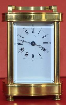 Vintage French L'epee 8 Day Doucine Serpentine Timepiece Carriage Clock 2