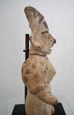 Antique Pre-Columbian Jalisco Polychrome Ceramic Female Figure 200 BC - 200 AD 9