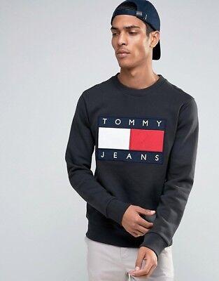 tommy hilfiger 90s jeans big flag sweatshirt pullover hoodie pullover