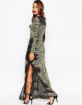 11df0aa3 8 of 12 12 Tall Asos Maxi Dress Red Carpet Mermaid Jewel Sequin Embellished  Wedding