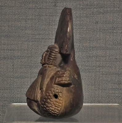 Antique Pre-Columbian Tairona Ceramic Ocarina Musical Instrument 900–1550 A.D. 3