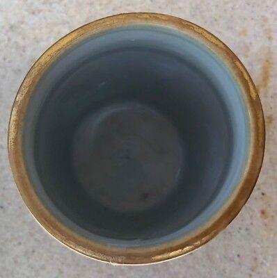 Asian Ceramic Brush Pot Hand Painted 6
