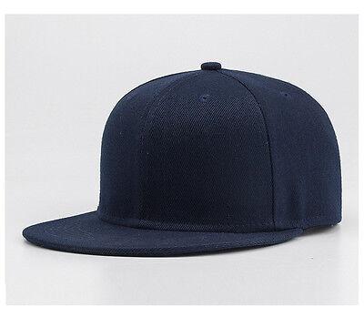 Snapback Baseball Cap Plain Hip Hop Retro Classic Vintage Funky Golf Flat Hat 9