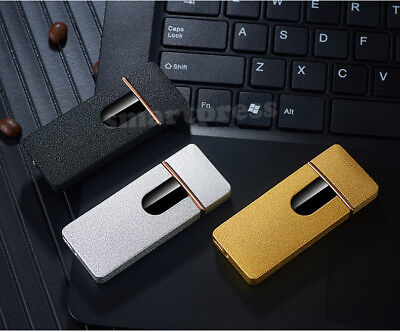 Windproof Electric Cigarette Lighter Touch Sensitive USB Rechargeable Flameless 6