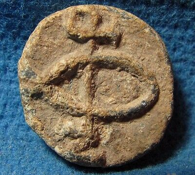 Unusual LEAD bulla Byzantine 5th-7th. cen. AD. Judea Archaeology ancient Judaea.
