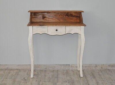 French Style Secretary Table Dressing Table Wood Oak White Vintage Retro 2