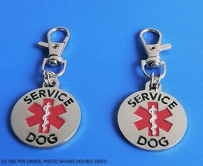 ALL ACCESS CANINE™ Service Dog Emotional Support Animal ESA Metal Dog Collar Tag 2