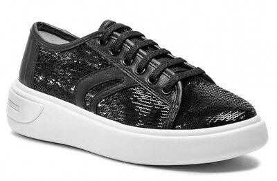 Sneakers alte donna trapuntate grigio modello new club Geox D4258A