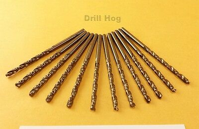 Drill Hog 1/8 Cobalt Drill Bit M42 1/8 Drill Bit Twist 12 Pk Lifetime Warranty 2