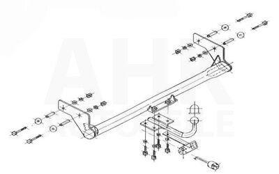 Brink Anhängerkupplung abnehmbar /& 13poliger E-Satz Renault Kangoo 08-12 NP kpl.