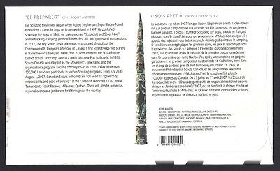 Canada   # 2225    100 YEARS SCOUTS CANADA       New 2007 Unaddressed 2