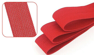 Solid Colour Flat Knit Elastic 20mm width Soft Rubber Knitted 2