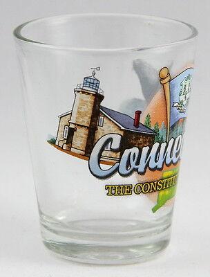 Connecticut Constitution State Elements Shot Glass Shotglass 3