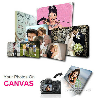 Personalised Photo on Canvas Art Print Framed A0 A1 A2 A3 A4 A5 Ready to Hang.\ 5