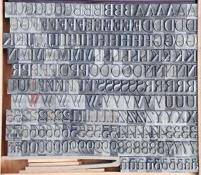 Bleischrift 18 mm  Bleisatz Buchdruck Alphabet Handsatz Bleilettern Typographie 2