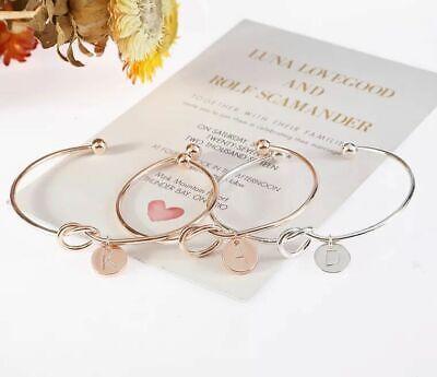 Personalized Initial Knot Bracelet Monogram Bracelet Bridesmaid Letter Bracelet 9