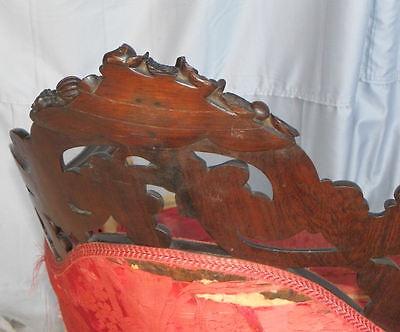 Antique Victorian Rosewood Recaimier / Méridienne – Pierced Carved J H Belter 3