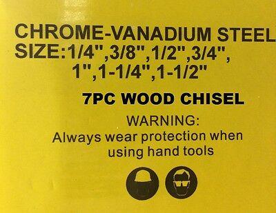 7PC WOOD CHISEL SET IN WOODEN CASE CRV CHROME VANADIUM STEEL CHISELS C6016