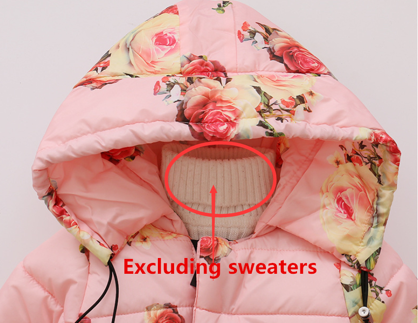 Toddler Baby Girls Floral Hooded Coat Outerwear Kids Jackets Warm Winter Clothes 6