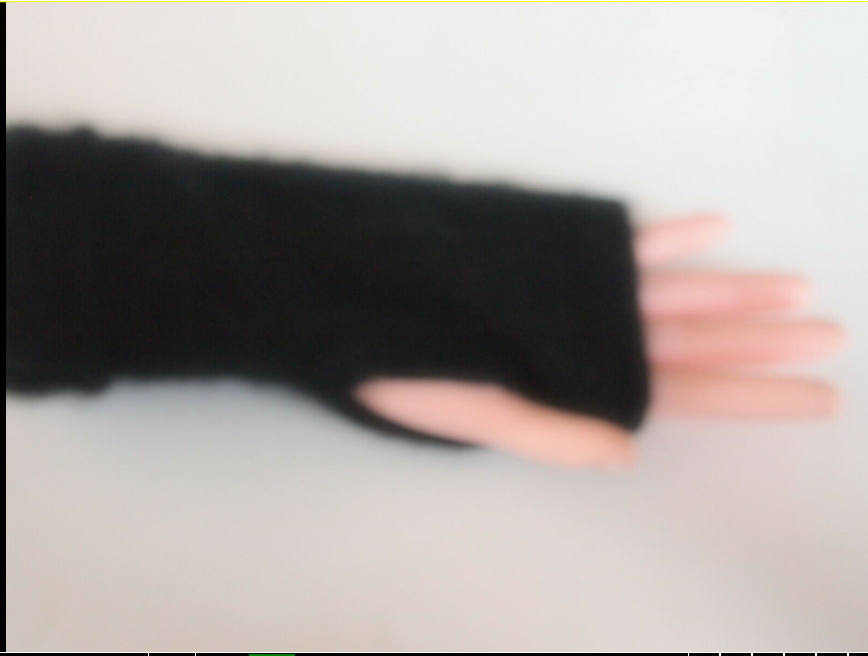 Fingerless Gloves Black 100% Cashmere Women's  Size Small S Texting Goth 4