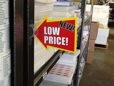 200 Clips for Retail Grocery Store Shelf Talker Signs Cards Bugs