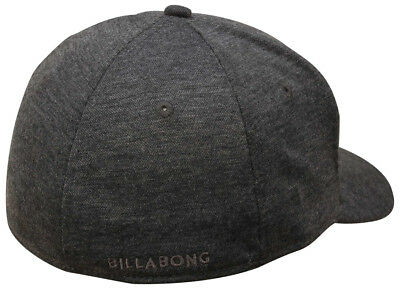 NEW TAG BILLABONG MENS BOYS UNITY S-M CURVED PEAK FLEXFIT CAP HAT BLACK HEATH