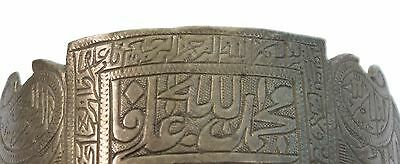Antique Ottoman Indo Islamic Hand Calligraphy Brass Armlet Collectible.G3-54 8
