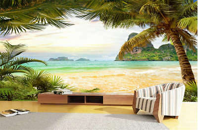 Relaxed Concise Sea 3D Full Wall Mural Photo Wallpaper Printing Home Kids Decor