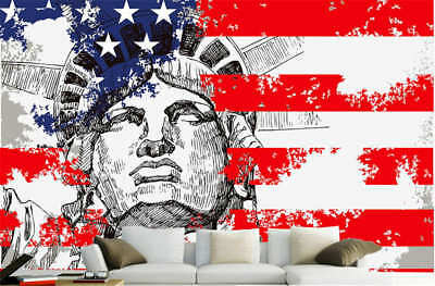 Concise Tall Statue 3D Full Wall Mural Photo Wallpaper Printing Home Kids Decor