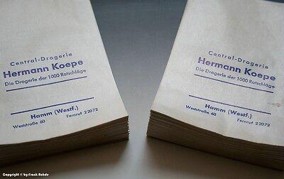 Konvolut etwa 95 gleichartige Tüten aus Drogerie in HAMM wohl um 1960 (mittel) 3
