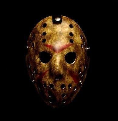 Halloween Jason.Friday The 13th Jason Voorhees Hockey Mask Halloween Costume Party Horror Prop
