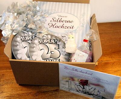 silberne hochzeit geschenke set silberhochzeit geschenkideen geldgeschenk silber eur 32 90. Black Bedroom Furniture Sets. Home Design Ideas
