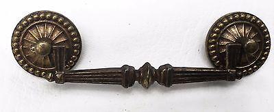"MCM Brass Vintage Antique Hardware French Provincial Drawer Pull 4""center 8"