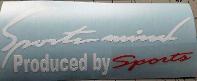 Sports mind decal hood or body decal Car Window sticker Fits Toyota Honda,JDM
