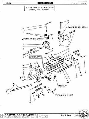South bend lathe reference library parts list automechanic shop 9 of 12 south bend lathe reference library parts list automechanic shop manuals cd v26 fandeluxe Choice Image
