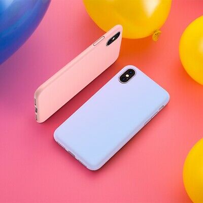 Case For iPhone X 8 7 6s Plus 6 XR XS MAX Genuine Silicone Soft Liquid Cover 9