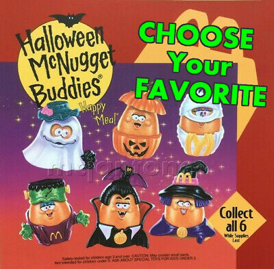 McDonald's 1993 McNUGGET BUDDIES Halloween NUGGET Buddy YOUR Toy CHOICE 4