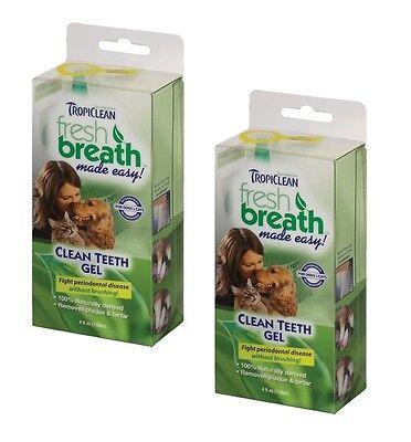 TropiClean Clean Teeth Gel For Dogs Promotes Strong Teeth & Healthy Gums 4 oz 4