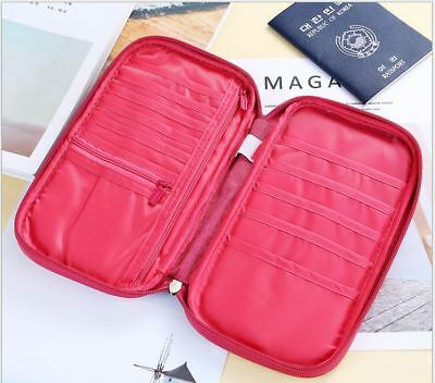 Travel Wallet Passport Holder Credit Card Case Document Ticket Organizer Bag 5