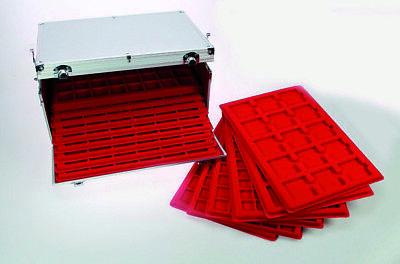 Look Alluminio Valigia per Monete Gigante 15 Tableaux Rosso 60 Scompartimenti 10