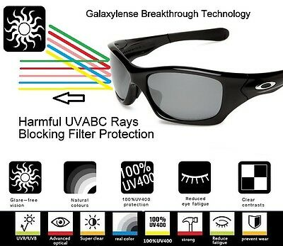 0082031eed ... Galaxy Replacement Lenses For Oakley Holbrook Iridium Black Color  Polarized 7
