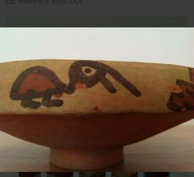 Pre-Columbian pottery bowl with birds - Ica culture Peru - 19 cm 7