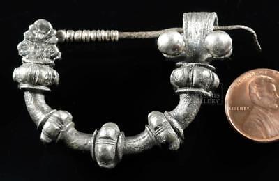 Rare Greek Silver Military Fibula - 37.9 g Lot 20B