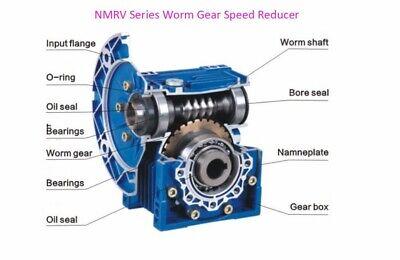 NMRV040 Worm Gearbox Gear Reducer 71B14 Ratio 10//20/25/30/40/50/60/80/100:1 8