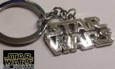 star wars logo full metal key chain keychain chrome collectible