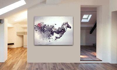ABSTRACT Stunning ZEBRA Animal Wall Art Various Sizes Canvas Prints