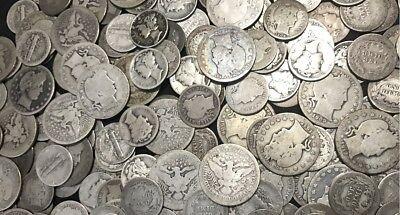✯ SILVER Old U.S. Coin Lots ✯ Mercury & Barber Dime Barber Quarter ✯ Estate Sale 3