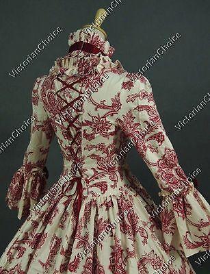 Renaissance Fair Gothic Fairy Princess Antique Print Dress Reenactment N 138
