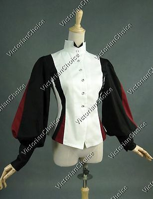 Victorian Pirate Equestrian Vintage Riding Habit Blouse Steampunk Shirt B024 2