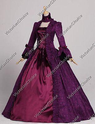 Renaissance Georgian Vintage Queen Witch Dress Gown Reenactment Wear N 138 XXXL